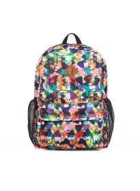 Printed 600D poly backpack
