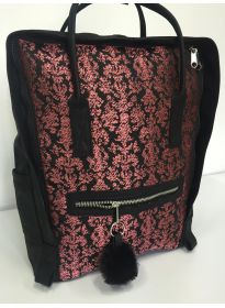 Multicolor flower backpack PU backside